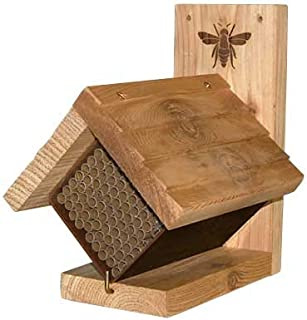 Woodlink Western Cedar Mason Bee House with Replaceable Tubes