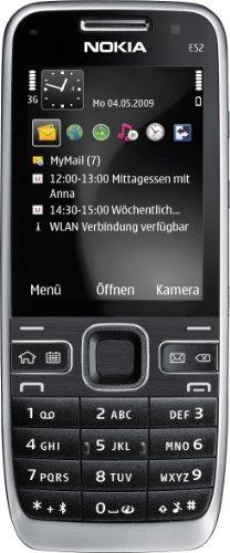 Nokia E52 Smartphone (UMTS, GPS, A-GPS, WLAN, MP3, Bluetooth, Mappe Ovi ) incl. Car-Kit, colore: Nero