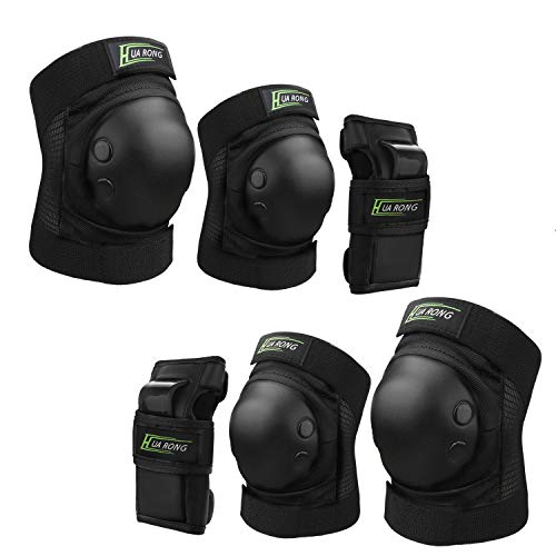 Zhesen Protective Gear Sets Protective Knee Pads Set Kids Youth Knee Pads Elbow Pads Wrist Pads Set for Roller Skates Cycling Bike Skateboard Inline Skatings Scooter Riding Sports Protective Gear Set