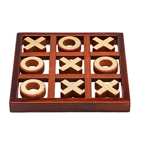 Juego de ajedrez de madera XO para niños y familia, círculo y cruz, juego de tablero de ajedrez XO, juego de mesa familiar, juego de mesa de madera, decoración del hogar para la decoración de la sala