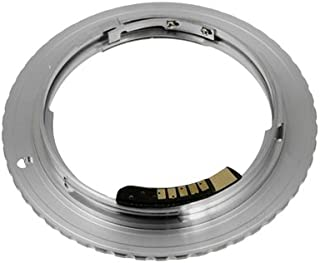 Fotodiox Lens Mount Adapter with Dandelion AF Focus Confirmation Chip, Contax/Yashica C/y cy lens to Canon Canon EOS 1D, 1DS, Mark II, III, IV, 1DC, 1DX, D30, D60, 10D, 20D, 20DA, 30D, 40D, 50D, 60D, 60DA, 5D, Mark II, 7D, Rebel XT, XTi, XSi, T1, T1i, T2i, T3, T3i, T4, T4i