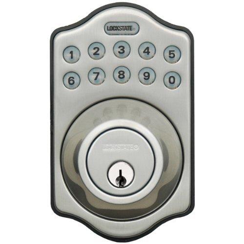 LockState Electronic Keyless Deadbolt, Satin Nickel Now $66.51 (Was $99)