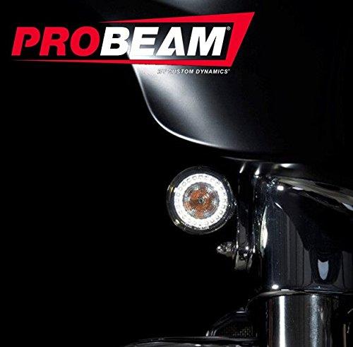 Custom Dynamics ProBEAM Amber/White Dynamic Ringz with Smoke Lens PB-AW-1157