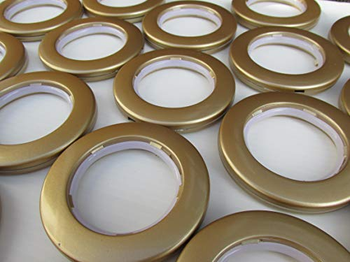 Brilliant Buys 10 x Gold Eyelet Curtain Rings for Curtains with Eyelets Low Noise