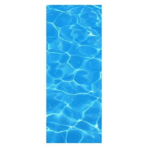 wandmotiv24 Türtapete Wasser-Pool-Lichteffekt 80 x 200cm (B x H) - Dekorfolie selbstklebend Tapete, Tür-Aufkleber, Türbild, Wandbild M1010