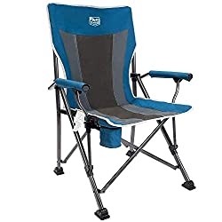 300 Lbs Limit Camp Chair With Swivel Feet