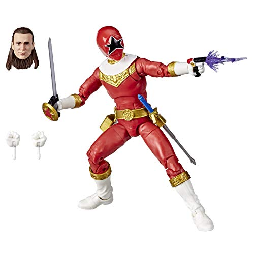 Power Rangers Lightning Collection Zeo Red Ranger 6-Inch Premium Collectible Action Figure Toy with Accessories
