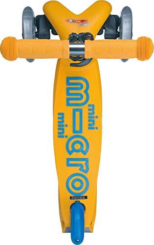 Micro Mini Deluxe, Original Design, Patinete 3 Ruedas, 2-5 Años, Peso 1,95kg, Carga Máx: 50kg, Altura 48-68cm, Ruedas PU 120/80mm, Rodamientos ABEC 9, Plataforma Antideslizante (Apricot)