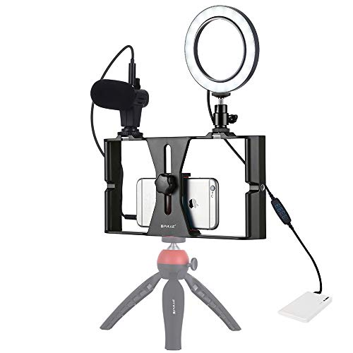 CX AMZ Grabación de Video móvil Kit de Jaula fotográfica para fotografía de Video,3 en 1 Vlogging Live Broadcast Captura Conjunto de Jaula