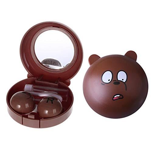 ReauBest Tragbarer Kontaktlinsenbehälter Cartoon Animal Cute Aufbewahrungsbox für Kontaktlinsen Reiseartikel
