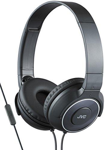 JVC HA-SR225-B-E - Auriculares de diadema cerrados (diseño portátil, control remoto y micrófono, reproducción de sonido superior) negro