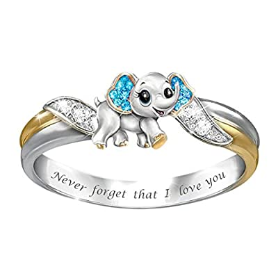 925 Sterling Animal Silver Ring Best Gifts for Women and Girls,Diamond Stackable Ring for Love Valentine's Day Promise Engagement Wedding Bands (5, A)