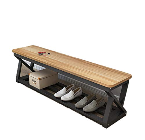 Yxwdz Benches Sturdy Garden Solid wood Dining Table Bench -Wooden Kitchen Dining Room Chair Bench Hallway Doorway Leisure Patio Seat (Three colors can be selected) garden bench