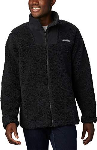 Columbia Herren Winter Pass Fleece-jacke mit Durchgehendem Reißverschluss, Schwarz (Black), L