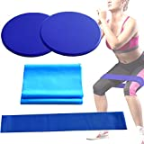 <span class='highlight'><span class='highlight'>Apofly</span></span> 1Set Blue Resistance Bands Exercise Bands Tension Band and Core Sliders Fitness Kit for Smooth Sliding on Carpet and Hardwood Floors Gliders Workout Legs Yoga Fitness Equipment