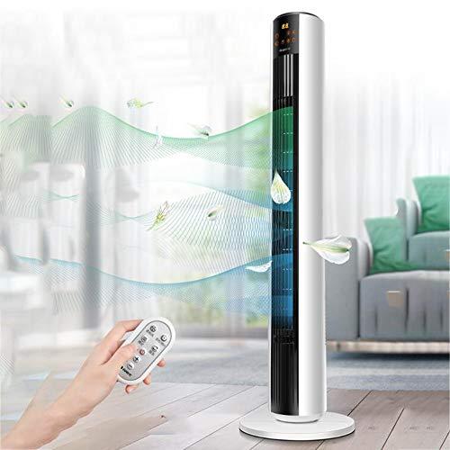 YUYI Climatizadores evaporativos Ventilador de Torre, sin Cuchillas Ventilador de Torre oscilante Configuración de Velocidad 5 Ventiladores de enrollamiento de pie pequeños, 4 Modos de Viento para el