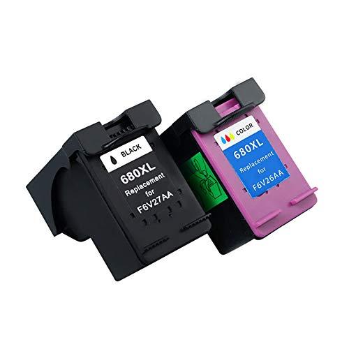 GYBN Cartucho de Impresora Recargable, de Alta Capacidad y ecológico, Color Negro, para HP 680 3636 3638 2678 3778 3838 2138 3630 3830 2670 2676 5088 3778 Cartucho de impresora-2-set