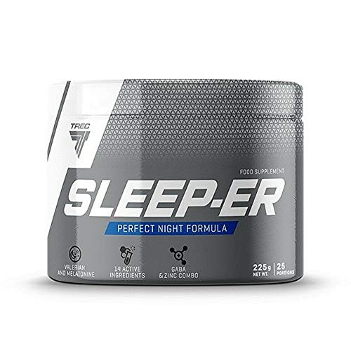 Sleep-ER 225g | Testosterone Booster + Sleeping Aid | Recovery Formula | Food Supplement for Muscle Growth and Deep Relaxing Sleep
