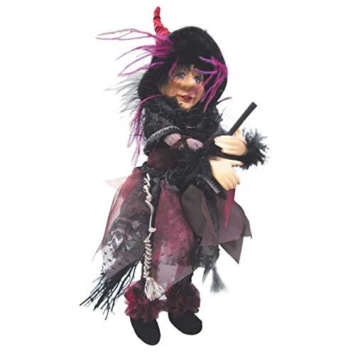 Hexen von Pendle-Sabrina Hexe fliegend (Burgund) 30cm