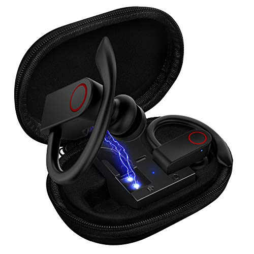 Upgrade Bluetooth Earbuds 5.0 Bluetooth Headphones with Charging Case,8-10H Playtime Wireless Earbuds, IPX8 Waterproof, CVC Noise-Canceling Headphones with Built-in Microphon for Sports,Workout,Gym