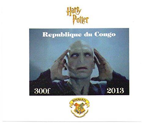 Harry Potter Sammlerstücke - Lord Voldemorte imperforate Miniatur-Briefmarkenbogens - Großartiger Zustand und frisch - 2013 / Kongo / 300 F