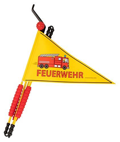 Karl Drais Fahrradwimpel Feuerwehr | Fahrrad Wimpel Fahne | Jungen Sicherheitswimpel