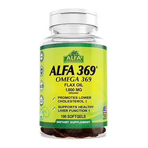 Price comparison product image Alfa Vitamins Alfa 3-6-9 1000 Mg Nutrition Supplement,  100 Count