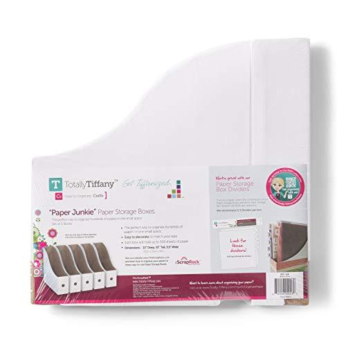 Totally-Tiffany SCRAPRACK STORAG Box 13.25X13, White