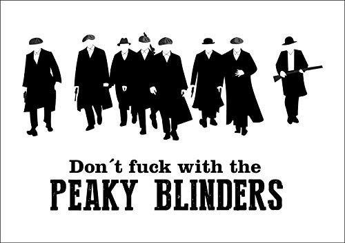 Peaky Blinders Póster de Pared Metal Creativo Placa Decorativa Cartel de Chapa Placas Vintage Decoración Pared Arte Muestra para Bar Club Café