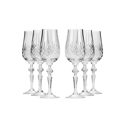 Set de 6neman cristales, 7-Oz hecho a mano Vintage ruso antiguo cristal copas de...