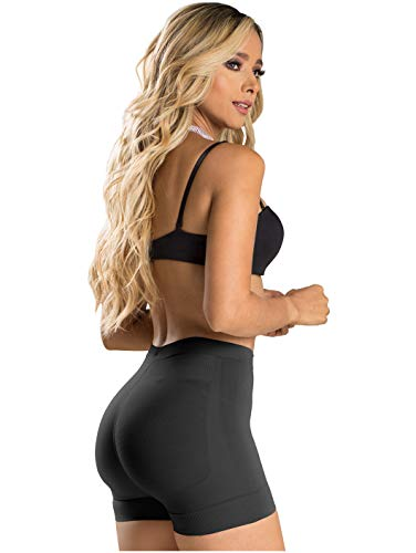 LT.ROSE 21996 Calzones Levanta Gluteos Colombianos Butt Lifter Shapewear Body Waisted Shaper Lifting Enhancer Panties Faja Shorts for Women Black L