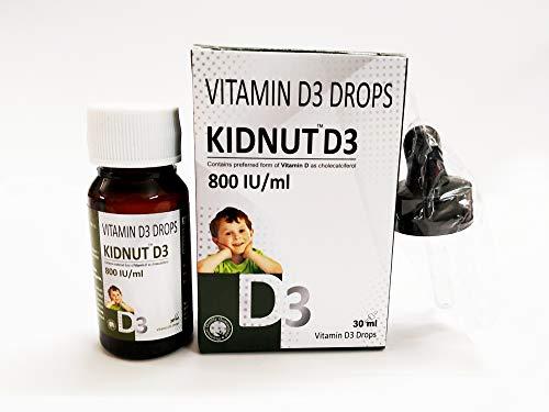 KIDNUT Vitamin D3 Drops 800 IU/ml for Healthy Bones and Immune System