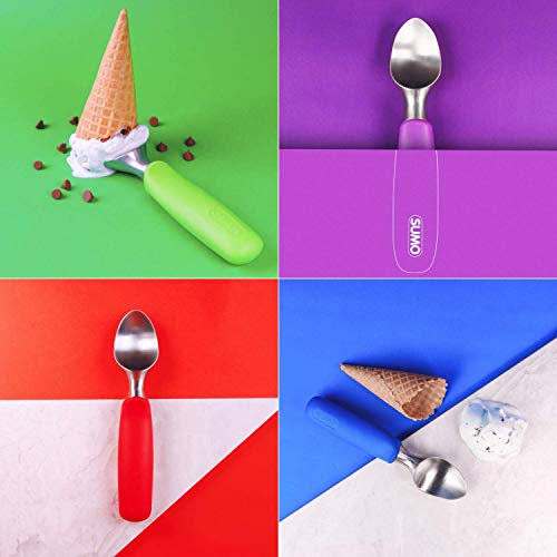SUMO Ice Cream Scoop: Solid Stainless Steel. Dishwasher Safe (Blue)