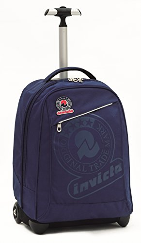 Invicta School 206001617-899 Trolley Zaino, Spallacci a Scomparsa, 35, litri, Poliestere, Nero