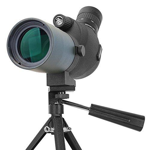 Aomekie Telescopio Terrestre 20-60X80 BAK4 con Soporte para Trípode Clip Teléfono Móvil para Adecuado