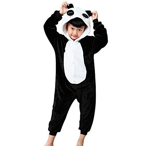 Missbleu Deguisement enfant pyjama combinaison animaux pyjama polaire enfant Panda taille 140