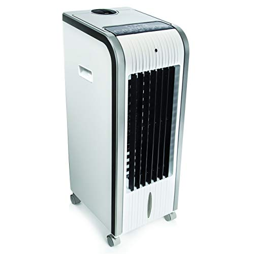 Jolitec White-Cool Climatizador 5 en 1 digital portátil. Climatizador, Evaporativo, Calefactor, Ventilador, Humidificador, Ionizador Portátil - Frío 80W - Calor 1000W - 2000W