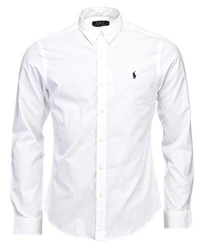 Ralph Lauren Polo-Hemd Popeline, passgenau, weiß, marineblau, schwarz, S–XXL Gr. L, weiß