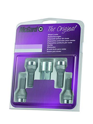 McGard 27207SU Standard - Tornillos antirrobo para rueda (base cónica, M12 x 1,50, longitud del vástago 26,4 mm, SW19)
