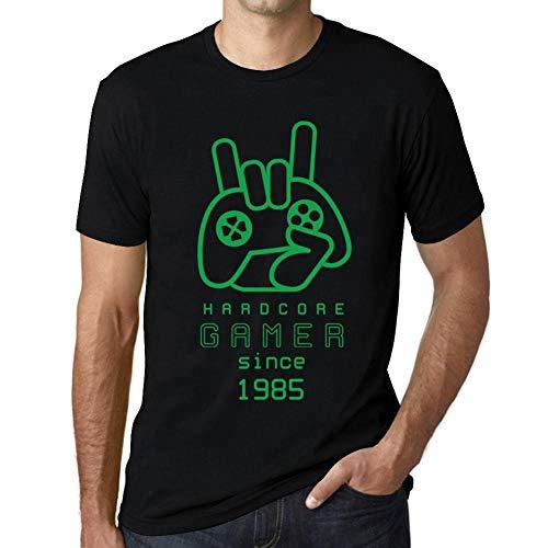 One in the City Hombre Camiseta Vintage T-Shirt Gráfico Hardcore Gamer Since 1985 Cumpleaños de 36 años Negro Profundo