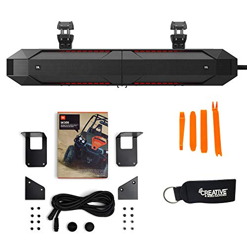 JBL UB4100BLK Marine Amplified Soundbar for UTVs & Boats - Includes JBL SK300 Separation Kit