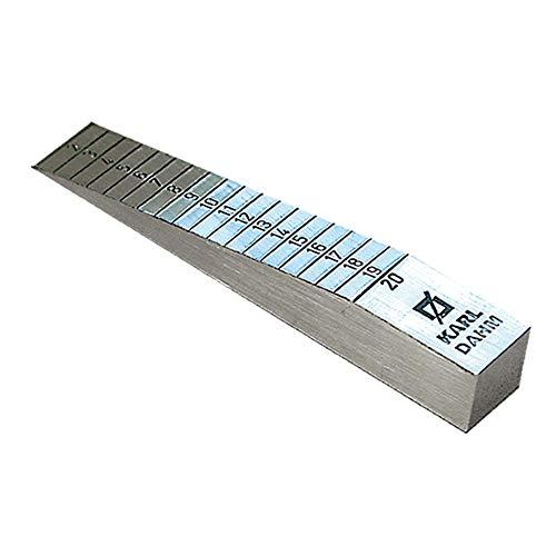 Karl Dahm Estrich-Messkeil I Aluminium Mess-Keil, Messbereich 1-20 mm I Fliesenlegerzubehör I Estrich-Keil zur Überprüfung von Unebenheiten – 10058
