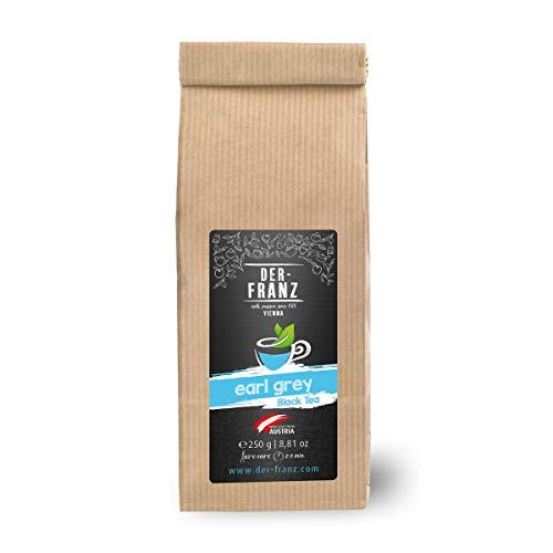 Der-Franz - Té negro 'Earl Grey' con sabor natural en hojas enteras, 250 g