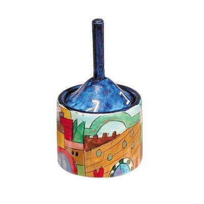 Jerusalem Design Hanukkah Dreidel Box with Dreidel