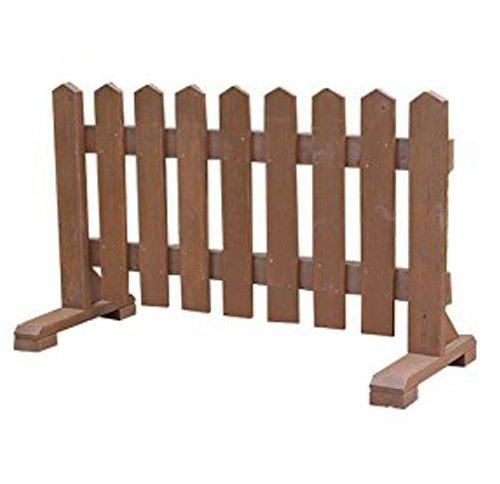 木製 ピケットフェンス -ブラウン- 【受注製作品】 (幅120cm) 犬 目隠し 屋外 飛び出し防止 柵 ガード さく 木製フェンス