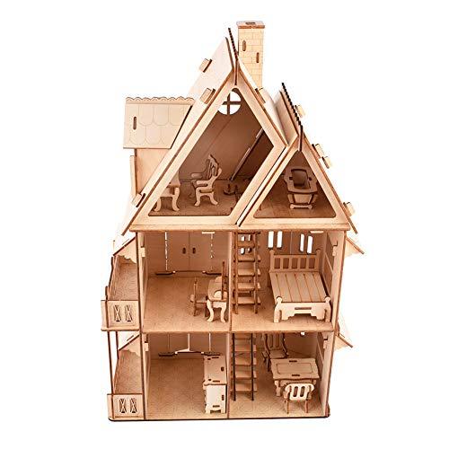 Jingyig Rompecabezas de ensamblaje de Madera 3D, Madera Exquisita Modelo Interesante de Rompecabezas de Madera Suave, para la Familia, los niños, el hogar
