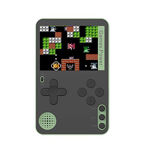SNOWINSPRING Consola de Juegos PortáTil Consola de Juegos de Cartas Ultrafina Consola de Videojuegos Retro PortáTil Buenos Regalos para Ni?Os y Adultos-Verde