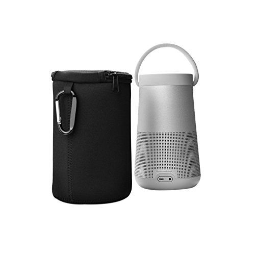 Meijunter Weich Neopren Etui Hülse Tasche Beutel für Bose SoundLink Revolve+ Plus Bluetooth-Lautsprecher (Weich Neopren Hülle,schwarz)