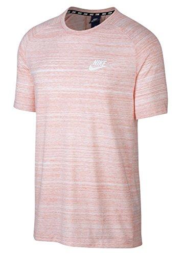 Nike Advance 15 Knit T-Shirt (XL, White/Coral)