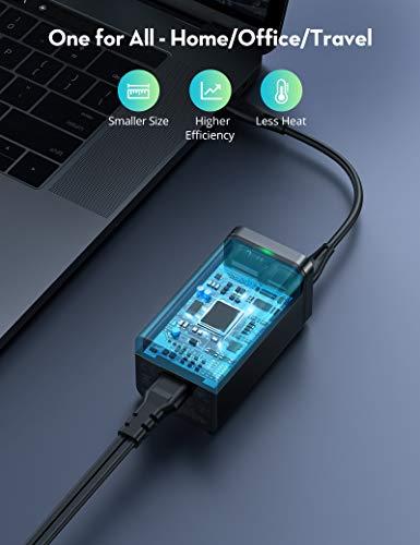 USB C Ladegerät, RAVPower 65W 4 Port USB Ladestation mit 65W USB C Ausgang, USB C Netzteil für MacBook, Dell XPS 13, iPad Pro, iPhone, Switch, Galaxy und mehr
